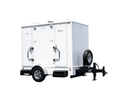2 Station Exterior Portable Restroom Trailer nice porta potty rental
