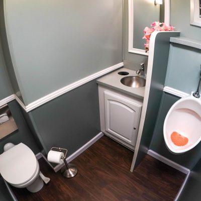2 Station Portable Restroom Trailer nice porta potty rental