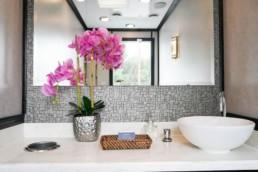 5 Station Women's Portable Restroom Trailer nice porta potty rental