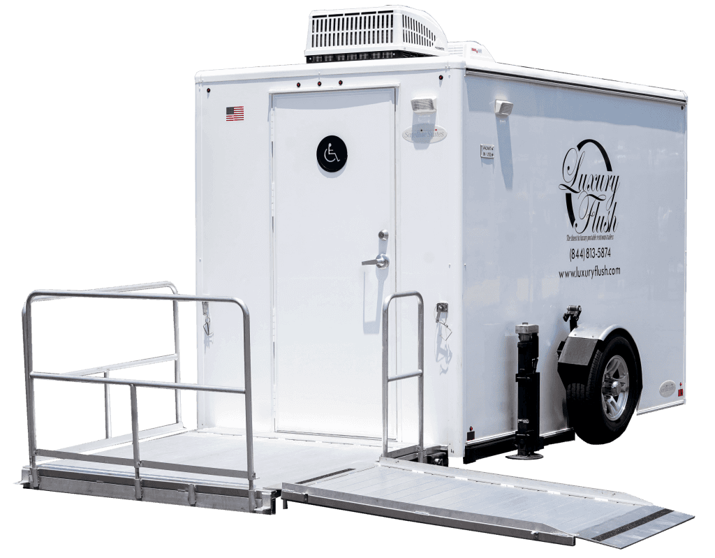 ADA Single Portable Restroom Trailer