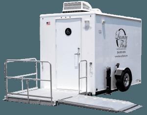 ADA Single Portable Restroom Trailer nice porta potty rental