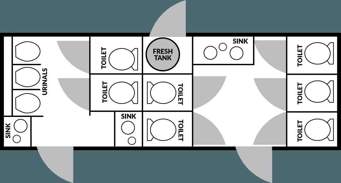 10 Station Floorplan nice porta potty rental