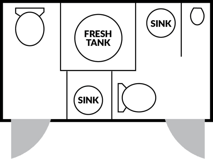 2 Station Elite Floorplan nice porta potty rental