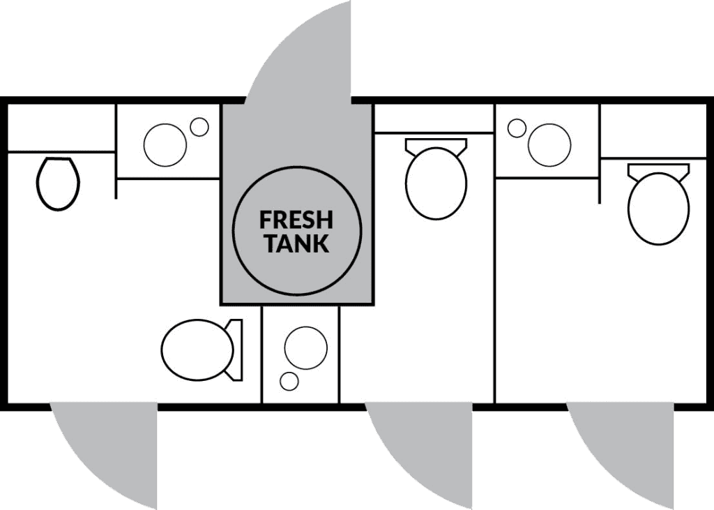 3 Station Floorplan nice porta potty rental
