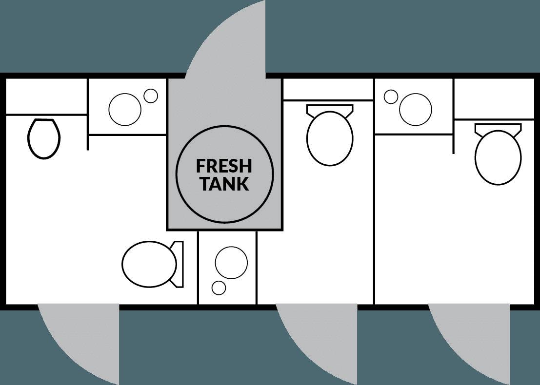 3 Station Floorplan nice porta potty rental
