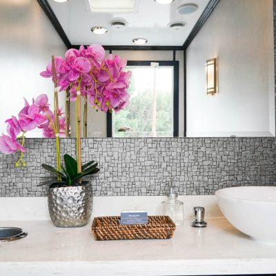 3 Station Portable Restroom Trailer nice porta potty rental
