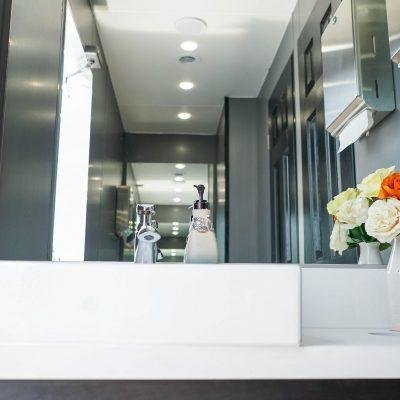 6 Station Portable Restroom Trailer nice porta potty rental