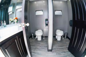 6 Station Portable Restroom Trailer nice porta potty rental
