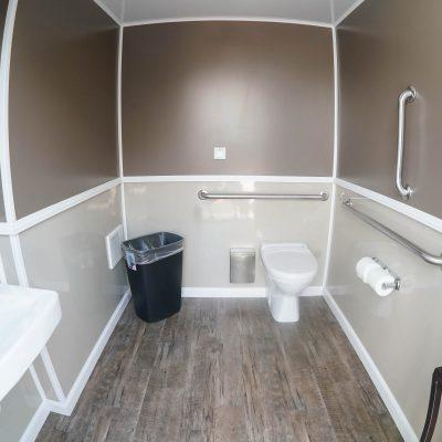 ADA Compliant Luxury Portable Restroom Trailer nice porta potty rental