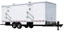 10 Station Exterior Portable Restroom Trailer