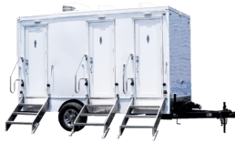 3 Station Luxury portable toilet nice porta potty rental