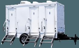 3 Station Luxury portable toilet nice porta potty rental