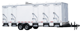 5 Station Exterior Portable Restroom Trailer nice porta potty rental