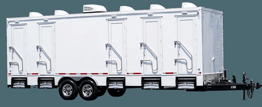 5 Station Exterior Portable Restroom Trailer nice porta potty rental