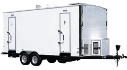 6 Station Exterior Portable Restroom Trailer nice porta potty rental