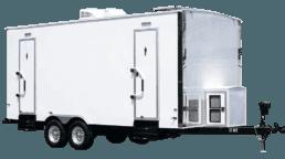 6 Station Exterior Portable Restroom Trailer nice porta potty rental