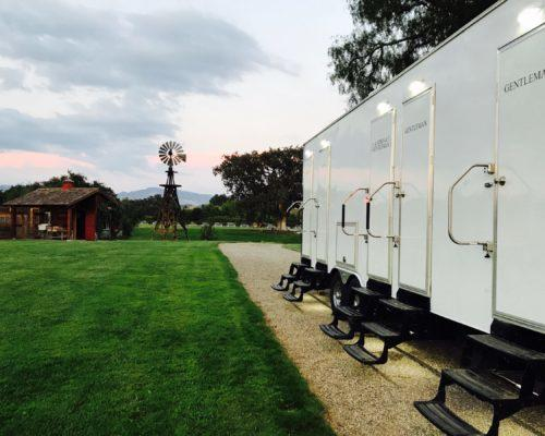 Portable Restroom Trailer for Weddings nice porta potty rental