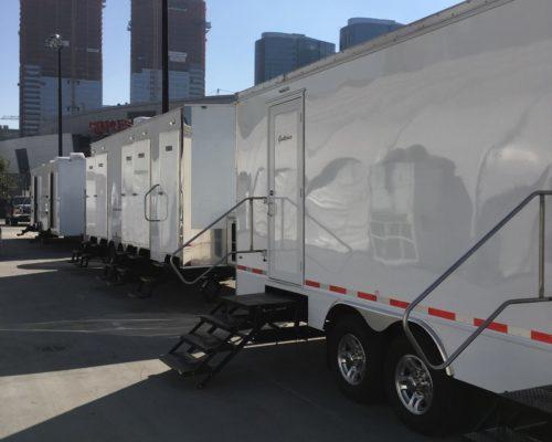 Portable Restroom Trailer LA Live corporate event nice porta potty rental