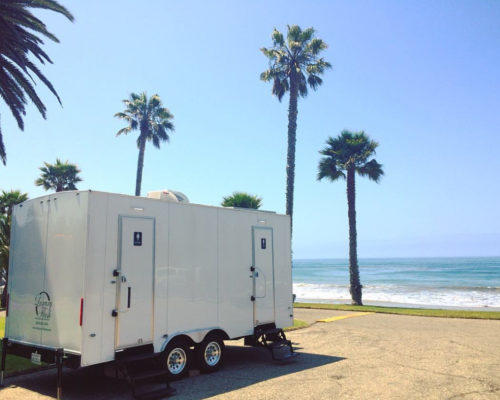 Portable Restroom Trailer Beach Wedding nice porta potty rental