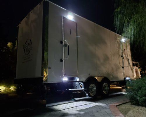 Film Production TV Commercial Movies Portable Restroom Trailer Rental